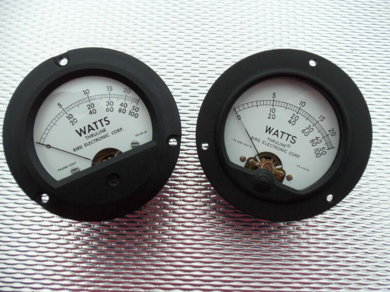 Bird 43 Thurline Wattmeter Element Replacement 30UA Watt Meter Face PN 2080-002