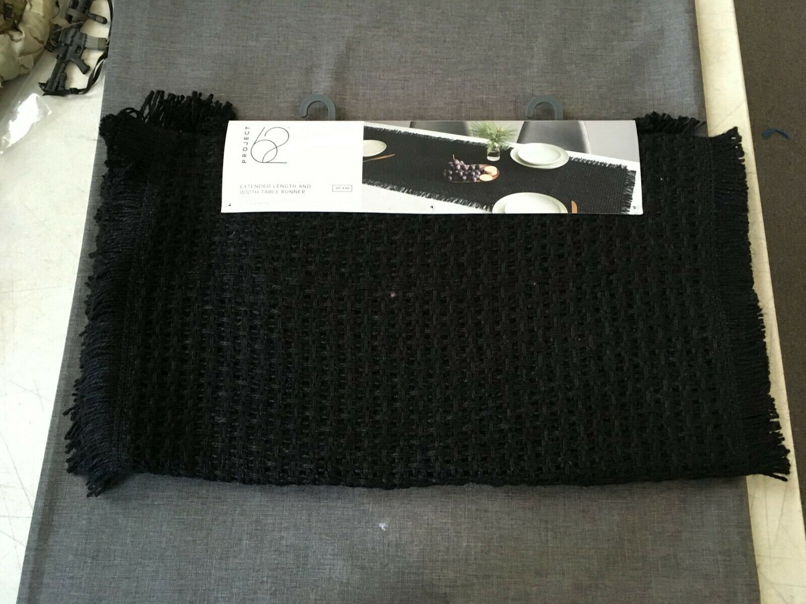 """Project 62 Extended Length Table 20"""" x 90"""" Black 100% Jute"""