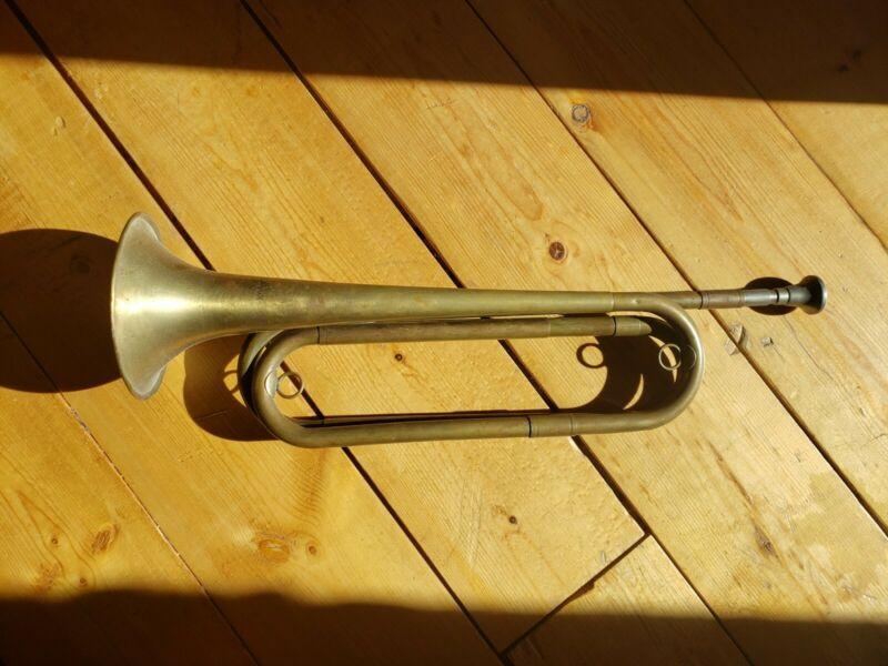 WWII US Regulation Bugle Vintage