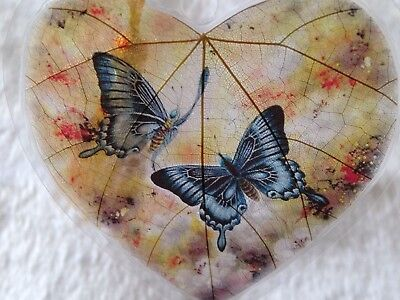 Artistic 100% Real Leaf Veins Lover Butterfly Bookmark Best Gift for her and