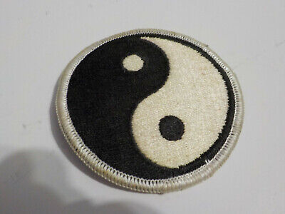 True Vintage 1970s Yin Yang Patch Black White NOS From USA