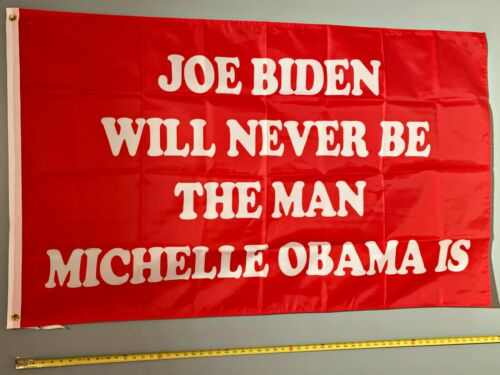 DONALD TRUMP FLAG *FREE SHIP USA SELLER! 2024 Biden Will Never Red USA Sign 3x5