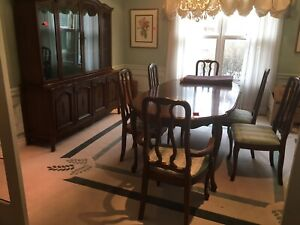 French Provincial style solid maple dining room set