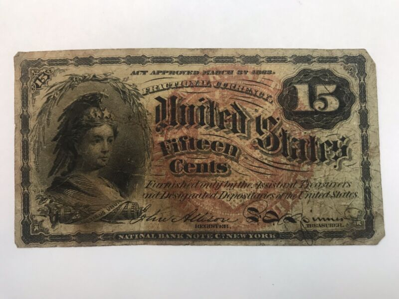 1863 United States 15 Cent Fractional Currency