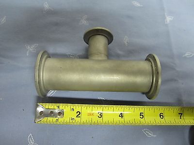 High Vacuum Kf Tee T Fitting As Is Bin55r-08