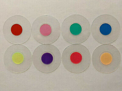 Microscope 32mm Set Of Eight Rheinberg Center Stop Filters - Very Exciting Views