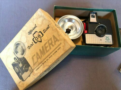 Official Girl Scout Vintage Camera with Flash and Box