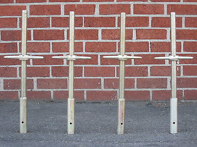 "4 New Scaffolding 24"" X 1-3/8"" Galvanized Solid Stem Socket Jacks CBMscaffold"
