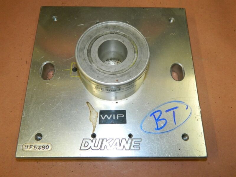 "Dukane Ultrasonic Plastic Welder UF5480 9"" x 9"" x 1"" plate Black Turbine LOT-BT"