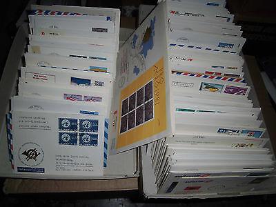 Sammlung Posten Schweiz Flugpost CH ca. 840 Briefe / BELEGE 1970-1995 (60001)