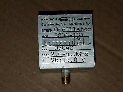 Systron Donner 3036-137 Rf Microwave 2-4ghz Yig Tuned Oscillator Smaf 07042