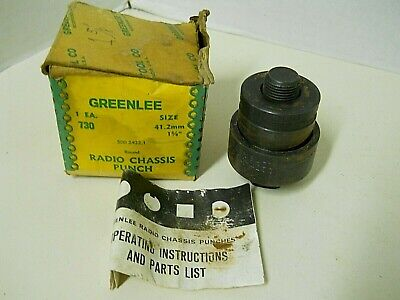 Greenlee Radio Chassis Punch 730 1 58 41.2mm 5002422.1 Punch Die Draw Stud