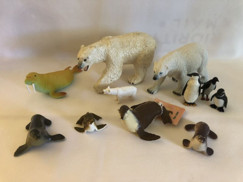🐧 Safari Ltd & Unmarked Artic Animal Life Seals Penguins & Polar Bears 🐧