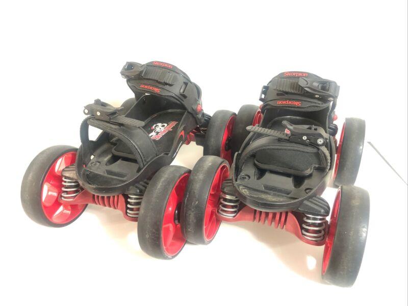 Skorpion Roller Skates Urban Street Quadline Large Size 8-12 Adjustable-Used