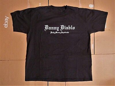DANNY DIABLO BLACK DIRTY MONEY SYNDICATE SHIRT NYHC CROWN OF THORNZ SKARHEAD