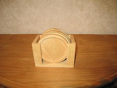 *NEW* BOIS Set 6 sous-verres ronds 10cm Coasters