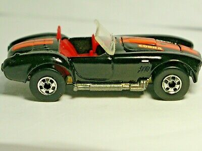 "HOT WHEELS 1989  PARK N PLATES  SHELBY COBRA  BLACK WITH BASIC WHEELS "" LOOSE """
