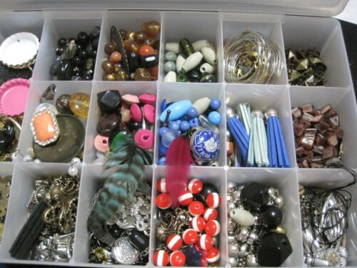 Lot of Jewelry Findings for Crafting and Jewelry Making in Box
