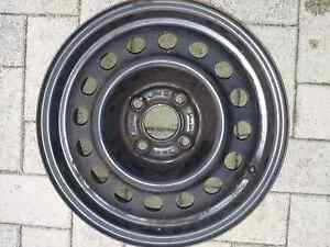 Steel rims 14 inch 4x100 with bmw wheel trims East Victoria Park Victoria Park Area Preview