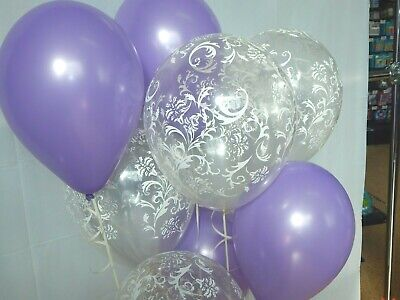 Light Purple Balloons,Clear Damask Fancy Shower Decorations Birthday Party](Fancy Balloons)