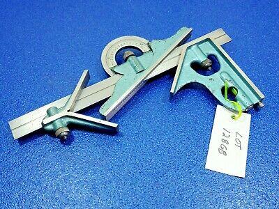 Pec 4 Pc Hardened Combination Machinist Square Protractor Metalworking Lot 128gb