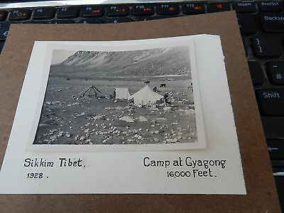 TIBET ORIGINAL 1928 PHOTOGRAPH  83 X 63 MM  ON MOUNT 140 X 110 mm vvgc SIKKIM