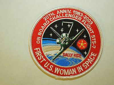 NASA Sally Ride 20th Anniversary Challenger Space Shuttle Iron On Patch