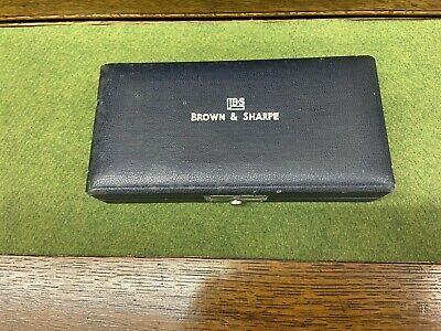 Vintage Brown Sharpe Original Leather Velvet Storage Case