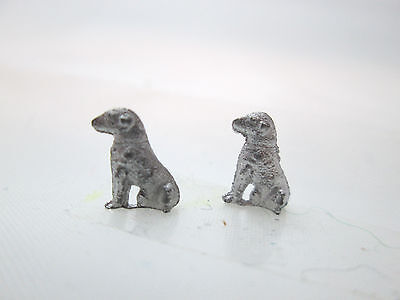 2 Dollhouse Miniature Unfinished Metal 144th Scale Dog Sitting #1