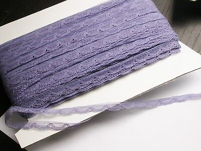"""Nylon Lace 3/8"""" Heather Scalloped 100 Yard Bolt Soft Hand for sale  Shipping to India"""