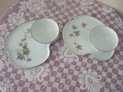 BONE CHINA  TEA CUP & SIDE PLATES X 2,EXCELLENT  CONDITION Caboolture Caboolture Area Preview