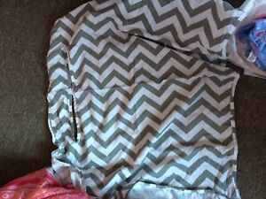 Swaddle blankets and breastfeeding cover