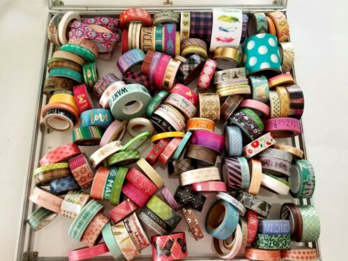 Lot Of approx 150 crafters Washi Decorative Tape rolls New and Used Mixed