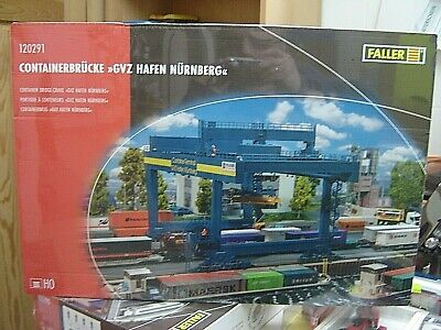 "Faller HO 120291 Bausatz Containerbrücke GVZ Hafen Nürnberg ""Neu""(102)"