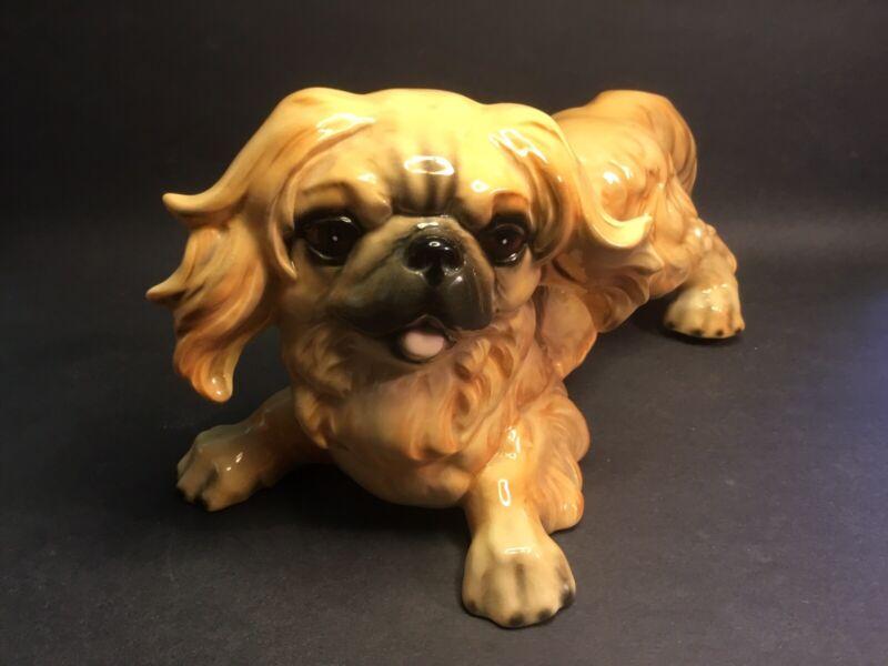 Goebel Mid Century Pekingese Happy Dog Figurine c.1954 West Germany