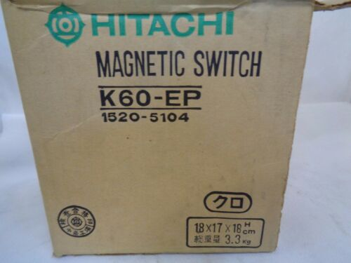 NEW HITACHI K60-EP MAGNETIC SWITCH-CONTACTOR 100/110V COIL