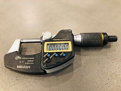 Mitutoyo 0 - 1 Digital Micrometer Ip65 Coolant Proof Quantumike .00005accuracy