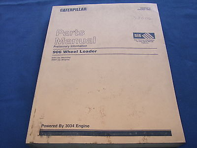 Cat Caterpillar 906 Wheel Loader Parts Book Manual Sn 6zs1-up