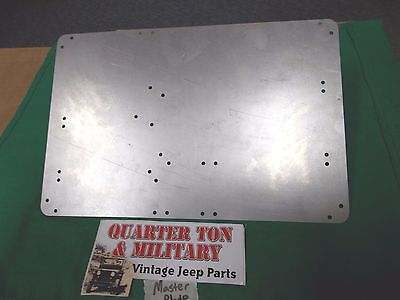 Jeep Willys M38 M38A1 M170 Master Data plate mounting plate for dash (P80), used for sale  Shipping to Canada
