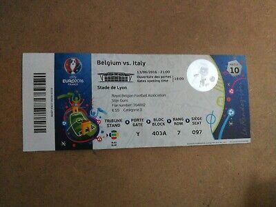 TICKET EURO 2016 : BELGIQUE - ITALIE MATCH 10