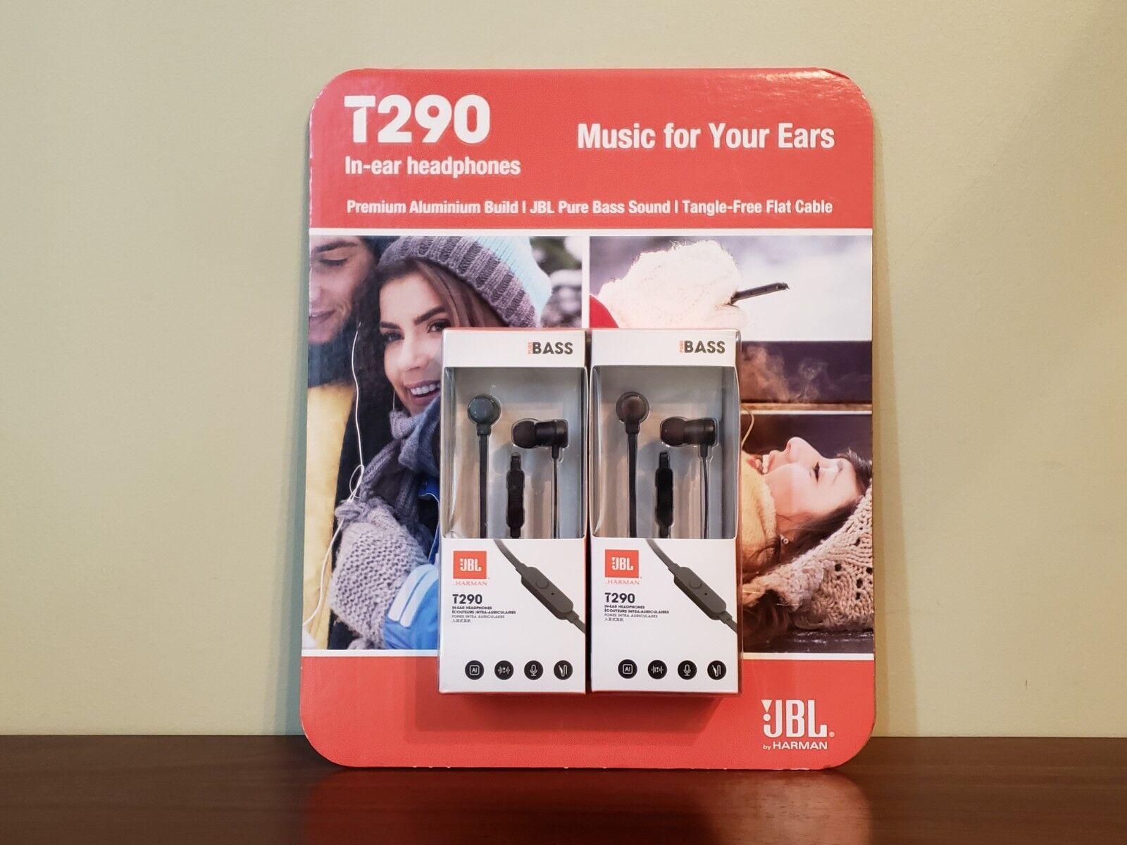 JBL T290 In-ear Pure Bass Wired Earphone Headphones  - New!