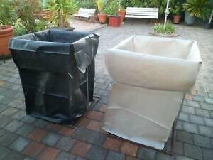 New garden rubbish bags, store cans/bottles, frames extra at $50