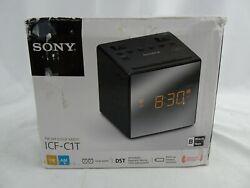 Sony ICF-C1T Desktop Alarm Clock AM FM Radio ~ BLACK