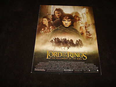 LORD OF THE RINGS FELLOWSHIP OF THE RING Oscar ad with cast, Viggo, Liv, Orlando