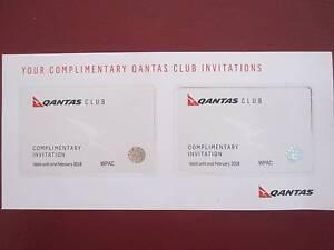 Qantas Club pass x 2    February 2018 Umina Beach Gosford Area Preview