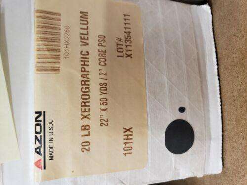 """AZON 20LB XEROGRAPHIC VELLUM 101HX 22 X 50 2"""" CORE"""