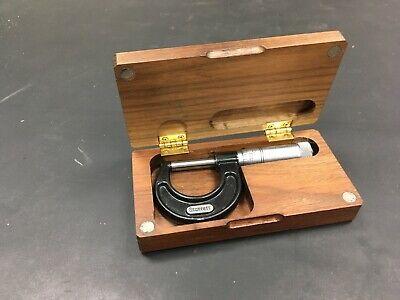 Starrett No.436-1 In Outside Micrometer In Custom Wood Case