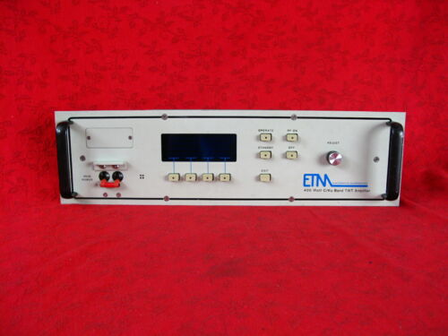 ETM ELECTROMATIC 400 WATT C/KU BAND TWT AMPLIFIER CONTROL PANEL ONLY IN EXCELLEN