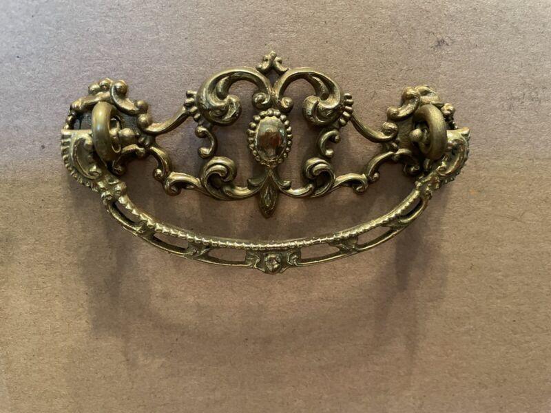 6 Antique Victorian Drawer Brass Pulls