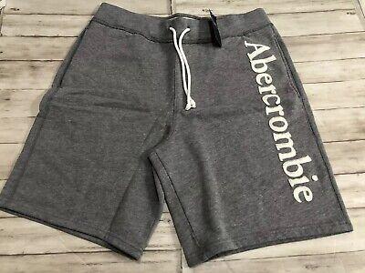 NWT Abercrombie & Fitch Fleece Gray Shorts Medium New Pockets Gym Sport N17